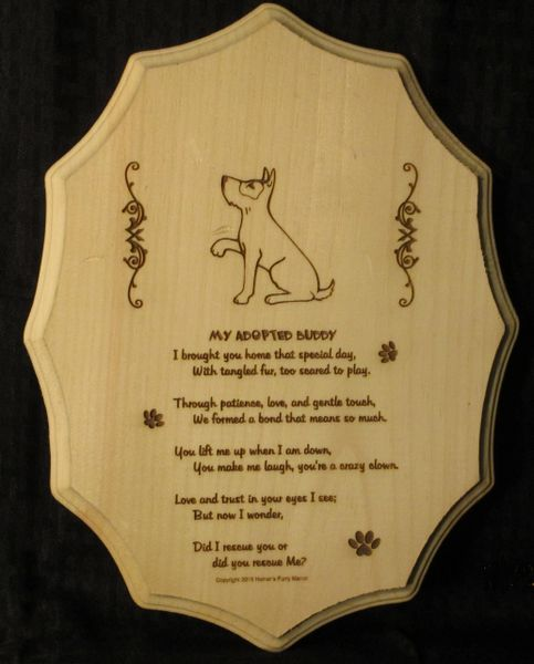 Adopted / Rescue Dog - Adoption Poem - Scalloped Edge