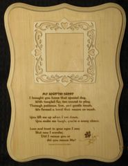 Adopted/Rescue Pet - Adoption Poem Plaque with Picture Frame