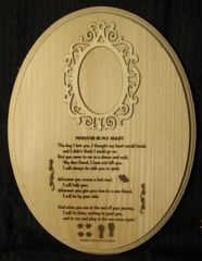Loss of Pet - Forever in My Heart Poem Oval Plaque with Picture
