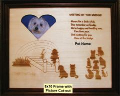 Waiting at the Bridge Pet Engraved Plaque - 8x10