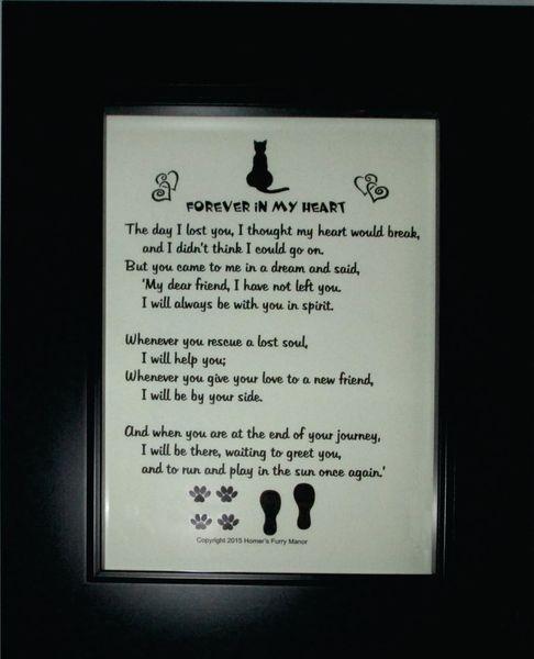 Loss of Cat - Memorial Poem Picture