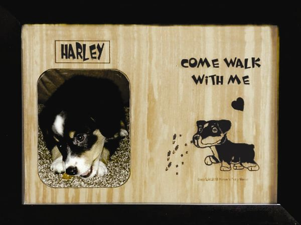 Custom Dog Breed Engraved Wood Picture in Frame - Come Walk with Me (8x10)