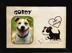 Custom Dog Breed Engraved Wood Picture in Frame - Best Buddies (8x10)