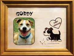Custom Dog Breed Engraved Wood Picture in Frame - Best Buddies (5x7)