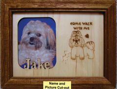 Custom Dog Breed Engraved Picture and Name in Frame - Come Walk (8x10)