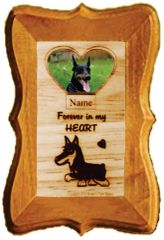 Lost Dog Custom Dog Breed Engraved Wood Picture in Frame - Forever in My Heart (4x6)