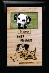 Custom Dog Breed Engraved Wood Picture in Frame - Best Friends (4x6)