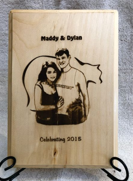 Custom Engraved Picture of Family and Friends from Photo