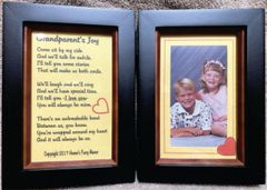 Double Picture Frame with Grandparent's Joy Poem and Place for Your Picture