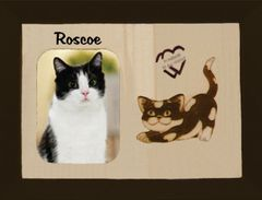 Lost Cat Custom Breed Engraved Wood Picture in Frame - Forever in My Heart (8x10)