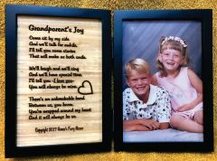 Grandparent's Joy Engraved Poem in Double Picture Frame with Your Picture