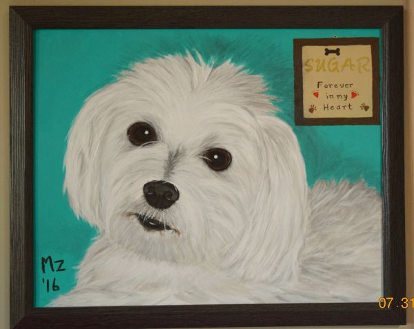 Loss of Pet Memorial Painting - From your favorite photo