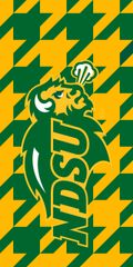 NDSU Primary Houndstooth Dauphin™ Hard Rubber Phone Case