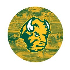 NDSU Head Concrete 1 Pewter Key Chain or Money Clip