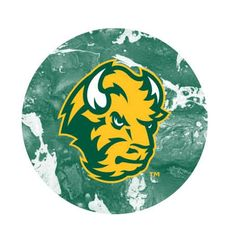 NDSU Head Concrete 2 Pewter Key Chain or Money Clip