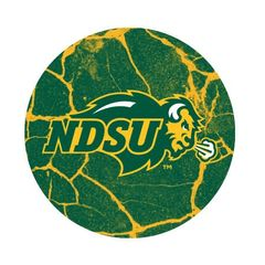 NDSU Primary Cracks 2 Pewter Key Chain or Money Clip