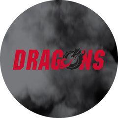 Dragons in Red Black Dragon Clouds 1 on Black Sandstone Car Coaster
