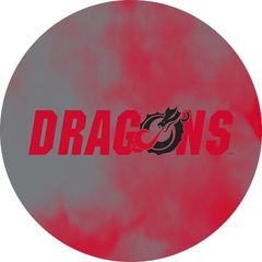 Dragons in Red Black Dragon Clouds 1 on Red Sandstone Car Coaster
