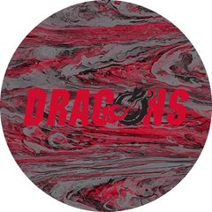 Dragons in Red Black Dragon Concrete 1 on Red Sandstone Car Coaster