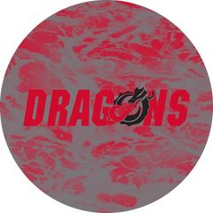Dragons in Red Black Dragon Water 1 on Red Sandstone Car Coaster