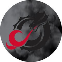 MSUM Black Dragon Clouds 1 on Black Sandstone Car Coaster