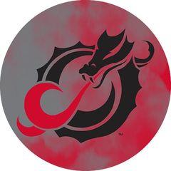 MSUM Black Dragon Clouds 1 on Red Sandstone Car Coaster