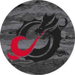 MSUM Black Dragon Concrete 2 on Black Sandstone Car Coaster