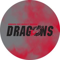 MSUM Dragons in Black Clouds 1 on Red Sandstone Car Coaster
