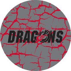 MSUM Dragons in Black Cracks 4 on Grey Sandstone Car Coaster