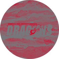 MSUM Dragons in Grey Concrete 2 on Red Sandstone Car Coaster