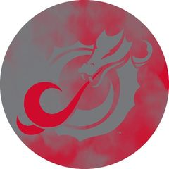 MSUM Grey Dragon Clouds 1 on Red Sandstone Car Coaster