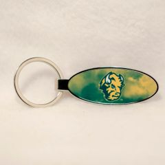 NDSU Head Logo Fog 1 Oval Bottle Opener Keychain