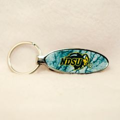 NDSU Primary Marble 4 Oval Bottle Opener Keychain