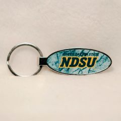 NDSU Words Marble 4 Oval Bottle Opener Keychain