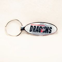 MSUM Dragons Fog 1 Oval Bottle Opener Keychain