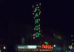 "8"" X 11"" Fargo Theater #3 Glass Cutting Board"