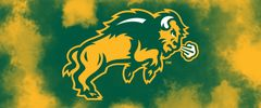 NDSU Body Logo on Clouds 1 Rectangle Ring Stand™ Phone Holder