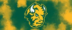 NDSU Head Logo on Clouds 1 Rectangle Ring Stand™ Phone Holder