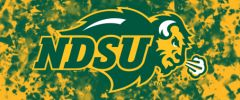 NDSU Primary Logo on Confetti 4 Rectangle Ring Stand™ Phone Holder