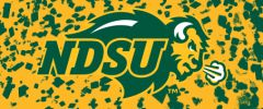 NDSU Primary Logo on Confetti 6 Rectangle Ring Stand™ Phone Holder