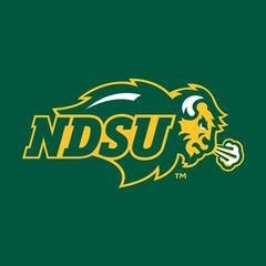 NDSU Primary Logo on Green Square Sandstone Coaster
