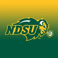 NDSU Primary Logo Gradient 1 Square Sandstone Coaster