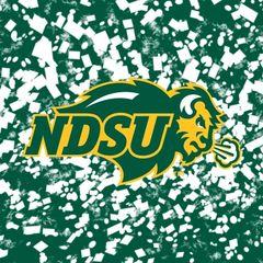 NDSU Primary Logo Confetti 2 Square Sandstone Coaster
