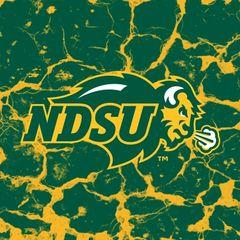 NDSU Primary Logo Cracks 3 Square Sandstone Coaster