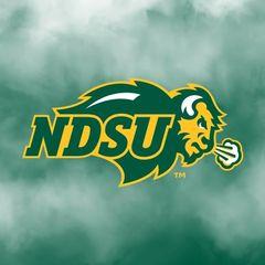NDSU Primary Logo Fog 1 Square Sandstone Coaster