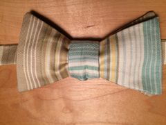 Tan & Turquoise Stripe