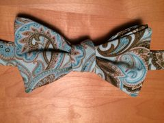 Blue Brown Paisley