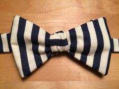 Blue & Off White Stripes