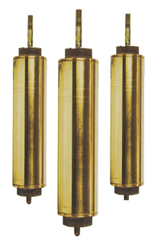 "442 Flush Cap 2-1/4"" x 10"" Brass Cylinders"