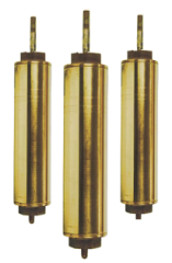 "442 Flush Cap 3"" x 12"" Brass Cylinders"